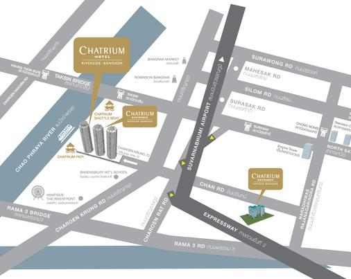 Chatrium Hotel Riverside Bangkok - Bangkok - Map