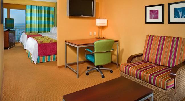 SpringHill Suites by Marriott Virginia Beach Oceanfront - Virginia Beach - Bedroom